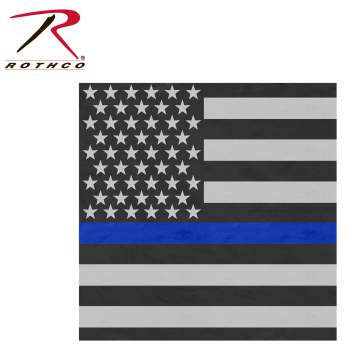 thin blue line, flag bandana, bandana, bandanas, thin blue line bandana, police support, cop support, police flag, thin blue line flag, kerchief,