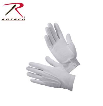 parade gloves,ceremonial gloves,white gloves,show gloves,dress gloves,uniform gloves,marching gloves,cloth gloves,gripper dots,glove with grippers,
