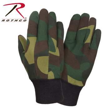 Gloves, camouflage gloves, workwear gloves, wholesale gloves, outdoor gloves, work gloves, jersey gloves, camo jersey gloves, camouflage jersey gloves, rothco gloves, gloves, workwear gloves