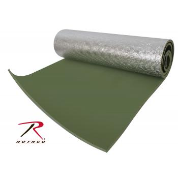 Rothco Thermal Reflective Od Sleeping Pad W/ Ties, thermal, reflective, olive drab, od, sleeping pad, sleeping mat