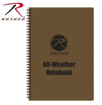 all weather notebook, notebook, waterproof notebook, water proof note book, all weather writing, write in the rain,