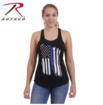 rothco women's thin blue line tank top, women's thin blue line tank top, womens thin blue line tank top, thin blue line, thin blue line tank top, thin blue line tank, womens thin blue line tank, womens tank tops, womens police tank top, womens law enforcement tank top, womens law enforcement tanks, thin blue line apparel, women's thin blue line apparel