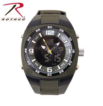 watch, watches, analog watch, digital watch, analog and digital watch, military watches, military style watches, large face watch, oversized watch, oversized face watch, large mens watches, army watches