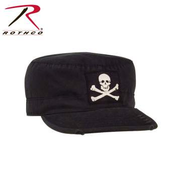 Rothco Vintage Military Fatigue Cap With Jolly Roger, Military Fatigue Caps, Vintage caps, military hats, vintage military hats, hats, fitted hat, Jolly Roger, Pirate Symbol, Embroidered hat, black fatigue hat, Roger hat, jolly roger cap, jolly roger hat, army fatigue cap with jolly roger, fatigue hat, army fatigue hat, army fatigue cap, military fatigue cap with jolly roger, pirate fatigue cap, pirate fatigue hat, pirate cap, pirate hat, patrol hat