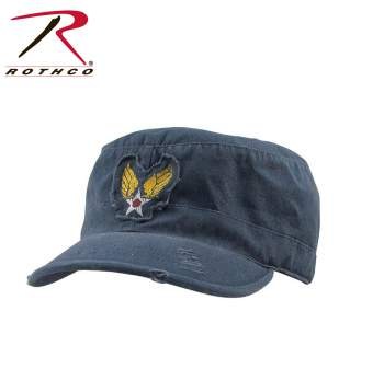 Rothco Vintage Fatigue Cap,winged star fatigue cap,vintage winged star hat,vintage winged star cap,winged star hat,winged star cap,blue cap,blue hat,blue fatigue hat,blue fatigue cap