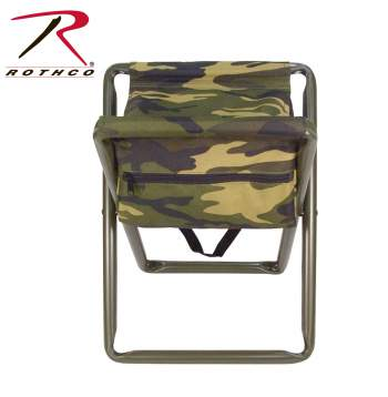4556 Rothco Deluxe Stool With Pouch Woodland Digital Camo