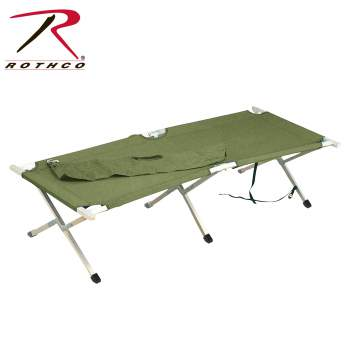 Rothco G.I. Type Aluminum Folding Cot, folding camping stool,camping stool,camping gear,folding stool,military stool,military gear,,Folding Cot,fold up cots,military folding cot,folding camp cot,sleeping cot,foldable cot,folding camping cot,gi cot,military-style cot,army cot,military cot