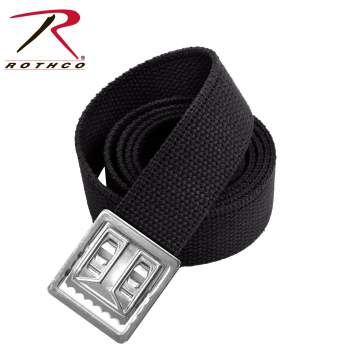 Cotton , Black Belt, chrome Buckle , Belt , Buckle