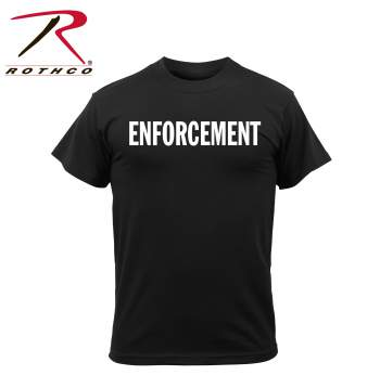 Rothco 2-Sided T-Shirt, Enforcement, Black, two sided, 2 sided, tshirt, t-shirts, law enforcement, enforcement shirt, enforcement t-shirt, black tshirt, 4612