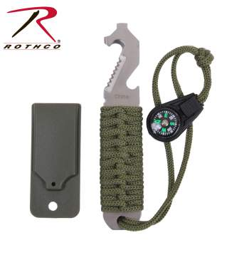 Rothco paracord survival pry tool, paracord survival pry tool, paracord survival tool, paracord pry tool, survival pry tool, survival tool, pry tool, survival, paracord, parachute cord, para cord, olive drab, black, od, olive drab paracord, black paracord, olive drab paracord survival tool, black paracord survival tool, tactical, 550 lb paracord, 550 cord, pry tool, pry tools, survival blade, serrated tool, survival tool kit, all in one survival tool, survival keychain, outdoor survival tool, survival gadget, seatbelt cutter, compass, bottle opener, prying tool, screw driver, 550 paracord, paracord 550, paracord survival, survival paracord