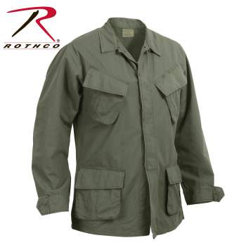 Rothco Vintage Vietnam Fatigue Shirt Rip-Stop, fatigue shirt, vintage fatigue shirt, Vietnam fatigue shirt, Vietnam era shirt, button down shirt, bdu shirt, bdu fatigue shirt, military shirt, army shirt, tiger stripe shirt, fatigue clothing, vietnam gear, vietnam shirt, vintage military shirts, vietnam era jungle fatigues, jungle fatigues, ripstop shirt, vietnam tiger stripe shirt