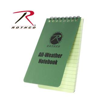 all weather notebook, notebook, waterproof notebook, water-proof notebook, all-weather writing, write in the rain, Tactical Notebook, Rothco Notebook, All Weather Note Pad, Rite In The Rain, Waterproof Notepad, Right in the rain notebook, waterproof field journal,