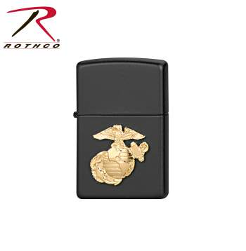 lighter, zippo lighter, zippo, the zippo, gas lighter, refill lighter, torch lighter, military crest, Marine corps, USMC,
