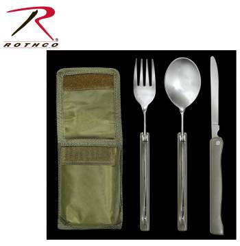 chow kit,eating set,fork utensils,knives and forks,camping cooking set,military cooking set,military chow kit,suvival tools,suvivial gear,pouch,