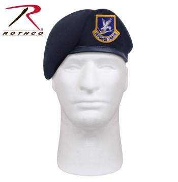 Rothco Inspection Ready Beret With USAF Flash - Midnight Navy Blue, beret, military beret, inspection ready beret, USAF, USAF beret, United States Air Force Beret, army beret, USAF beret, shaven beret, shaved beret, Rothco G.I. Type Inspection Ready Beret, Rothco Beret, Government issue Beret, beret, hat, headwear, black beret, black military beret, military beret, wool beret, blue flash, blue flash beret, inspection ready beret, inspection ready, tan beret, tan military beret, maroon beret, maroon military beret, green beret, green military beret, beret hat, army beret, military beret, shaven beret, pre-shave beret, shaved beret, pre-shaved beret, g.i. type beret, army style beret, military-style beret, army beret hat, us army beret, us military beret, Rothco G.I. Type Inspection Ready Beret, air force beret, us military berets, military police beret, military beret army, army military beret