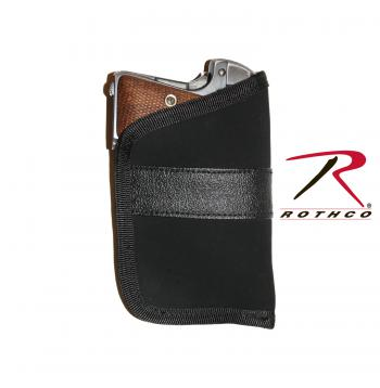 Rothco Pocket Holster, Black, polyester, holster, pocket holster, open top, no gun outline, tactical holster, concealed carry holsters, concealed carry holster, cc holster, pocket cc holster, rothco holster, pistol holster, discreet carry