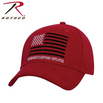 Rothco R.E.D. (Remember Everyone Deployed) Low Profile Cap, Remember Everyone Deployed Low Profile Cap, R.E.D. Hat, R.E.D. Cap, Low Profile Cap, Low Profile Hat, Remember Everyone Deployed Hat, RED Hat, RED Cap, American flag hat, American flag cap, United States flag hat, USA American flag hat, USA flag baseball cap, flag hat, USA flag cap, American flag baseball hat, low profile ball caps, low profile baseball cap, low profile baseball hats, low profile hats, remember everyone deployed clothing, rememberance low profile cap