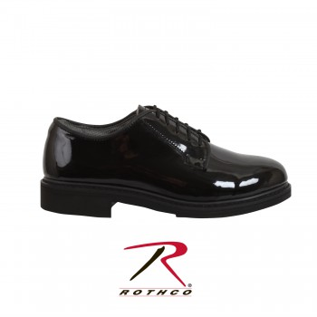 uniform shoe, oxford uniform shoe, military uniform shoe, police uniform shoe, hi-gloss shoe, hi gloss shoe, high gloss oxford shoe, navy oxfords, oxfords, dress shoe, uniform dress shoe, rothco oxfords
