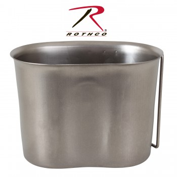 Stainless Steel Canteen Cup,canteen cup,military canteen,steel canteen,military supplies,military gear,gi stainless steel canteen cup,camping canteens,gi canteen,suvival canteens,survival gear,camping gear,gi supplies,