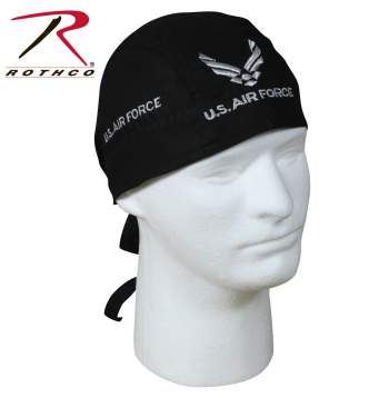 Rothco headwrap,headwrap,bandana,black headwrap,black bandana,head wrap,black head wrap,black trainmen headwrap, us airforce headwrap, airforce