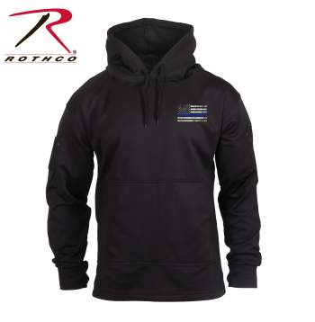 Rothco Thin Blue Line Concealed Carry Hoodie, thin blue line, concealed carry, concealed carry hoodie, thin blue line gear, tactical hoodie, concealed carry clothing, concealed carry apparel, Rothco concealed carry hoodie, concealed carry sweatshirt, concealed carry hooded sweatshirt, cc hoodie, thin blue line flag sweatshirt, thin blue line, blue stripe flag hoodie, thin blue line hoodie<br />
