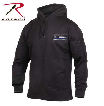 Rothco Thin Blue Line Concealed Carry Hoodie, thin blue line, concealed carry, concealed carry hoodie, thin blue line gear, tactical hoodie, concealed carry clothing, concealed carry apparel, Rothco concealed carry hoodie, concealed carry sweatshirt, concealed carry hooded sweatshirt, cc hoodie<br />