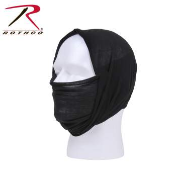 Rothco multi-use tactical wrap, Rothco multi-use tactical wrap, multi-use tactical wrap, multi-use tactical wrap, tactical wrap, multiple uses, tactical headwrap, tactical headwrap, head wrap, bandana, bandana, moisture wicking, wind resistant, neck gaiter, dust screen, balaclava, hat, scarf, tactical wrap, multi-use bandana