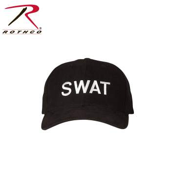 Rothco,SWAT,Law Enforcement,Adjustable,Insignia Caps,Caps,hats,adjustable hat,swat hat,swat cap,tactical hats,tactical caps,black swat hat,black hat