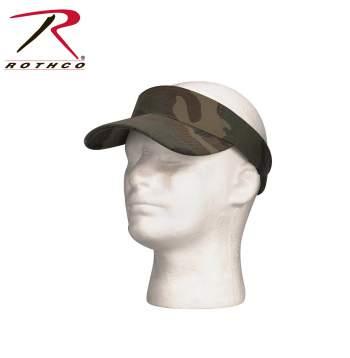 Adjustable Twill Visor,rothco visor,twill visor,sun visor,woodland camo visor,black visor,woodland visor,adjustable visors