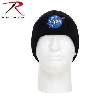 Rothco Deluxe NASA Meatball Logo Embroidered Watch Cap, watch cap, beanie hat, beanies for men, winter cap, mens winter hat, space exploration, space shuttle, spaceship, warm hat