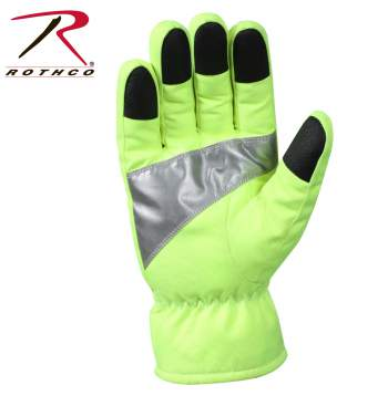 Rothco Safety Green Gloves With Reflective Tape, gloves, safety green gloves, reflective tape, safety green, work wear, work gloves, green gloves, reflective gloves, rothco gloves, glove, high visibility gloves, hivis gloves
