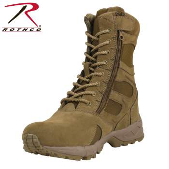 "Rothco Forced Entry 8"" Deployment Boots With Side Zipper,  forced entry boot, tactical boots, military tactical boot, tactical army boots, tan tactical boots, military boot, SWAT Boot, Swat tactical boots, combat boots, 8 inch, side zipper, steel shank, moisture-wicking boot, deployment boot, wholesale military boot, rothco boot, boots, desert combat boots, tan combat boots, rothco forced entry boots, forced entry tactical boots, entry boot, 8 inch tactical boots, large tactical boots, high ankle boots, over the ankle boots, high top ankle boots, swat footwear. swat military boots, swat police boots, police boots, police officer boots, police tactical boots, police safety boots, law enforcement boots, law enforcement work boots, police duty boots, police work boots, law enforcement tactical boots"