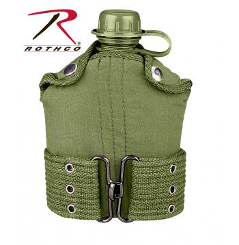 olive,olive drab,OD,plastic,canteen,plastic canteen,canteen,pistol,belt,pistol belt,kit,belt kit,cover,canteen cover