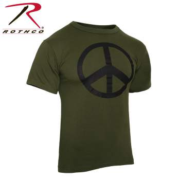 Rothco,t shirt print,tee shirt,short sleeve t shirt,short sleeve tee,tee shirts,t shirt,t-shirt,cotton tee,cotton tshirt,cotton t-shirt,poly tee,cotton poly t shirt,polyester cotton,peace tshirt,peace t-shirt,peace short sleeve,fashion tees,olive drab tee,olive drab tshirt,olive drab t-shirt,graphic tee