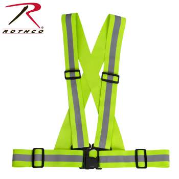 Rothco Elastic Reflective PT Harness, elastic reflective pt harness, reflective harness, reflective safety harness, safety harness, pt harness, running harness, military pt harness, physical fitness harness, army reflective harness, reflective running harness, reflector harness, physical fitness harness,