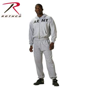 Rothco, Government Issue,hoody,physical training sweatshirt,army sweatshirt,army hoody,army training sweatshirt,grey army sweatshirt,zip up hoody,army zip up hoody,army zip up sweatshirt, t raining gear