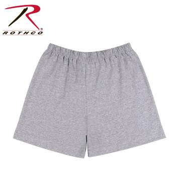 Rothco,shorts,cotton shorts,cotton ply shorts,polyester shorts,physical training shorts,gym shorts,training shorts,grey shorts,grey physical training shorts