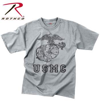 Rothco,t shirt print,tee shirt,short sleeve t shirt,short sleeve tee,tee shirts,t shirt,t-shirt,cotton tee,cotton tshirt,cotton t-shirt,poly tee,cotton poly t shirt,polyester cotton,USMC Globe And Anchor tshirt,USMC Globe And Anchor t-shirt,USMC Globe And Anchor short sleeve,vintage tees,grey tee,grey tshirt,grey t-shirt,us marines,vintage,vintage tshirts,vintage t-shirts,vintage tee,usmc tshirt,marines tshirt,marines t-shirt,graphic tee
