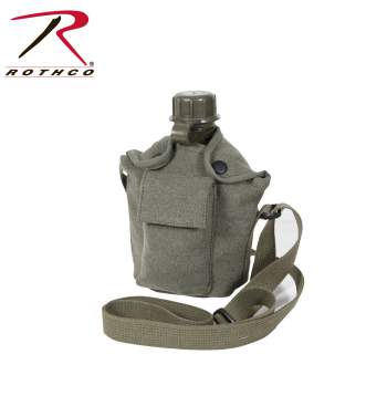 canteen cover,canvas canteen cover,canvas canteen holder,canteen cover with strap,canvas strap canteen cover, military canteens, military canteen cover,