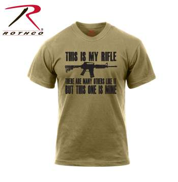 This is my rifle t-shirt, USMC t-shirt, coyote brown t-shirt, graphic t-shirt, printed t-shirt, military t-shirt, rifle t-shirt, gun t-shirt, tee shirt, tee shirts, t-shirts, rifleman slogan, riflemans creed,