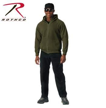 thermal sweatshirt, sweatshirt, zippered sweatshirt, thermal lined sweatshirt, thermal lined sweatshirt, zippered hoodie, hoodie, thermal hoodie, front zip hooded sweatshirt,