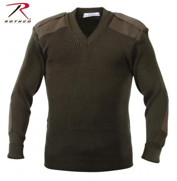 Rothco,V-Neck Sweater,vneck sweater,sweater,cardigan,pullover sweater,sweater cardigan,men sweater,acrylic sweater,black,acrylic,navy blue,olive drab, military sweater, mens military sweater, acrylic sweater, commando sweater, army sweater, tactical sweater,v neck acrylic sweaters