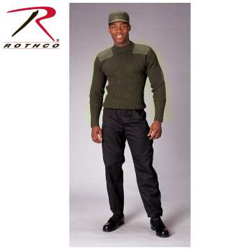 Rothco,Commando Sweater,sweater,casual wear,outerwear,long sleeves,military sweaters,winter sweaters,cardigan,cardigan sweaters,wool sweaters,wool,black,black sweater, military sweater, mens military sweater, wool sweater, commando sweater, army sweater, tactical sweater