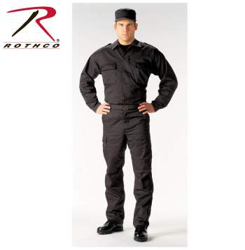 Rothco,Tactical,BDU,Shirt,tactical shirt,battle dress uniform,work wear,work shirt,military shirt,law enforcement shirt,black,uniforms for law enforcement,military tactical,shirts military,navy shirts,military uniform,navy blue