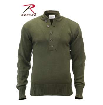 Rothco,5-button,Sweater,black,olive drab,military wool sweater,commando sweaters,army sweater,rothco sweater,Acrylic sweaters,Military sweaters, military sweater, mens military sweater, acrylic sweater, commando sweater, army sweater, tactical sweater