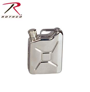Rothco Stainless Steel Jerry Can Flask, jerry can, flash, rothco, stainless steel, stainless steel flask, wholesale flasks