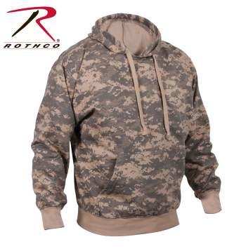 Rothco camo sweatshirt, camo sweatshirt, camo hoodie, sweatshirt, hoodie, camouflage sweatshirt, camouflage hoodie, ACU camo, Woodland  camo, hooded sweatshirt, sweatshirts, camo hoodies