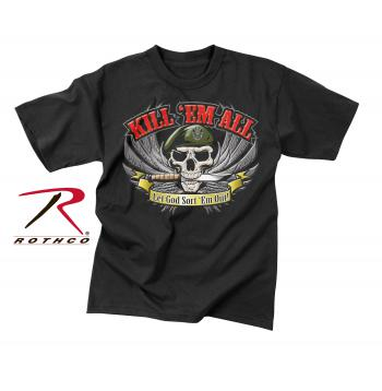 graphic tee, graphic t-shirt, t-shirt, tshirt, printed tee, printed tee shirt, printed t-shirt, graphic t, kill'em all, Kill EM All, kill'em all graphic t-shirt,