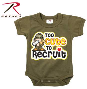 Infant One-piece,baby one-piece,new born clothing,infant clothing,unisex baby clothes,oneies,camo oneies,toddler clothing,too cute to recruit,