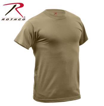 Rothco Quick Dry Moisture Wick T-shirt, moisture wicking, t-shirt, tshirt, tee, quick dry, shirt, gym shirt, gym tshirt, military t-shirt, rothco, quick dry clothing,